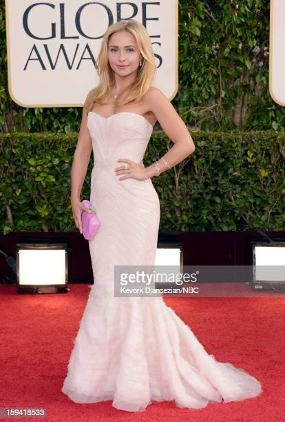 70th ANNUAL GOLDEN GLOBE AWARDS Pictured Actress Hayden Panettiere arrives to the 70th Annual Golden Globe Awards held at the Beverly Hilton Hotel on...