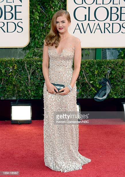 70th ANNUAL GOLDEN GLOBE AWARDS Pictured Actress Isla Fisher arrives to the 70th Annual Golden Globe Awards held at the Beverly Hilton Hotel on...