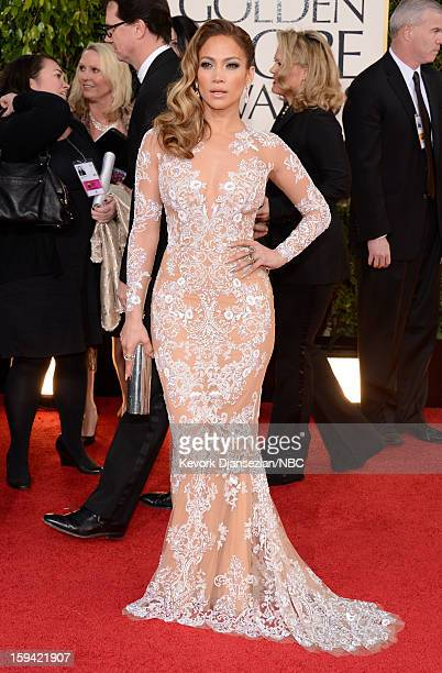 70th ANNUAL GOLDEN GLOBE AWARDS Pictured Actress Jennifer Lopez arrives to the 70th Annual Golden Globe Awards held at the Beverly Hilton Hotel on...