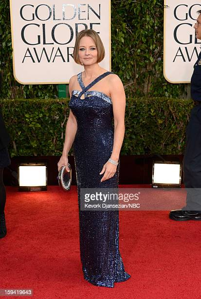 70th ANNUAL GOLDEN GLOBE AWARDS Pictured Actress Jodie Foster arrives to the 70th Annual Golden Globe Awards held at the Beverly Hilton Hotel on...