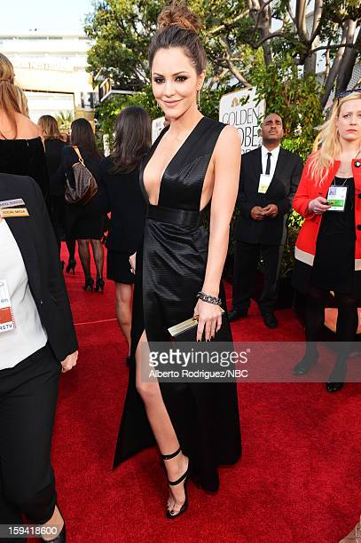 70th ANNUAL GOLDEN GLOBE AWARDS Pictured Actress Katharine McPhee arrives to the 70th Annual Golden Globe Awards held at the Beverly Hilton Hotel on...
