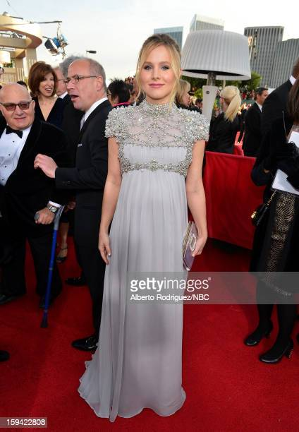 70th ANNUAL GOLDEN GLOBE AWARDS Pictured Actress Kristen Bell arrives to the 70th Annual Golden Globe Awards held at the Beverly Hilton Hotel on...