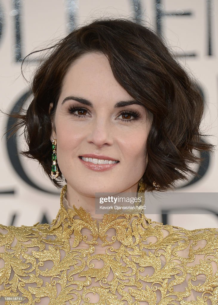 70th ANNUAL GOLDEN GLOBE AWARDS -- Pictured: Actress Michelle Dockery arrives to the 70th Annual Golden Globe Awards held at the Beverly Hilton Hotel on January 13, 2013.