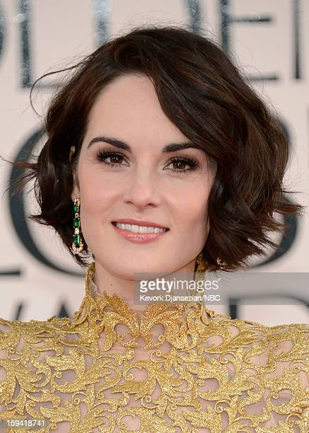 70th ANNUAL GOLDEN GLOBE AWARDS Pictured Actress Michelle Dockery arrives to the 70th Annual Golden Globe Awards held at the Beverly Hilton Hotel on...