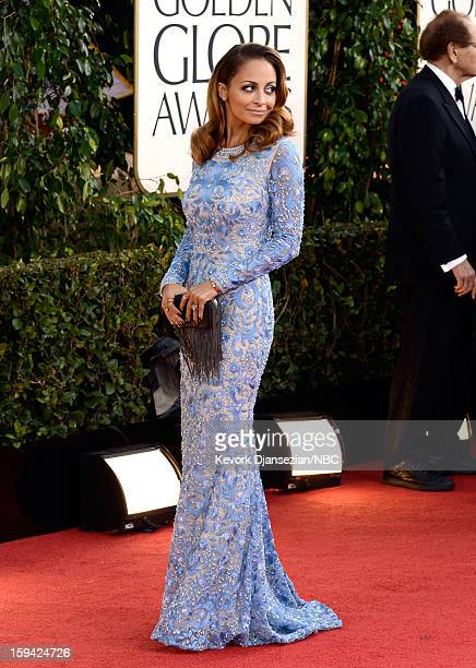 70th ANNUAL GOLDEN GLOBE AWARDS -- Pictured: Actress Nicole Richie arrives to the 70th Annual Golden Globe Awards held at the Beverly Hilton Hotel on...