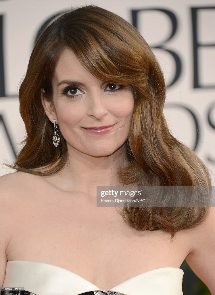70th ANNUAL GOLDEN GLOBE AWARDS -- Pictured: Actress Tina Fey arrives to the 70th Annual Golden Globe Awards held at the Beverly Hilton Hotel on January 13, 2013.