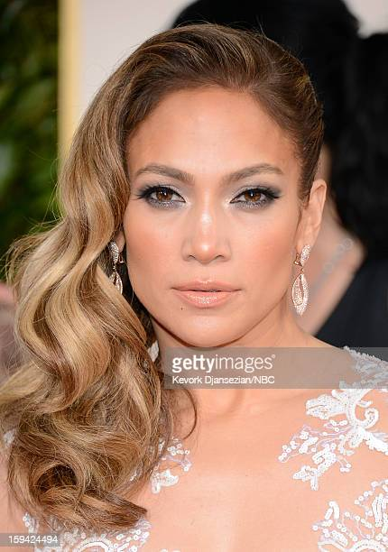 70th ANNUAL GOLDEN GLOBE AWARDS -- Pictured: Actress/singer Jennifer Lopez arrives to the 70th Annual Golden Globe Awards held at the Beverly Hilton...