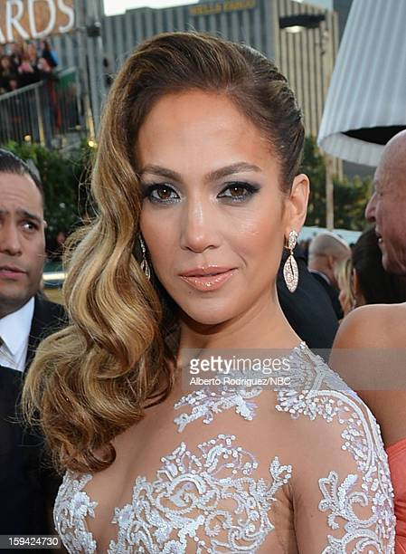 70th ANNUAL GOLDEN GLOBE AWARDS Pictured Actress/singer Jennifer Lopez arrives to the 70th Annual Golden Globe Awards held at the Beverly Hilton...