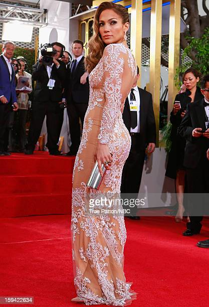 70th ANNUAL GOLDEN GLOBE AWARDS Pictured Jennifer Lopez arrives to the 70th Annual Golden Globe Awards held at the Beverly Hilton Hotel on January 13...