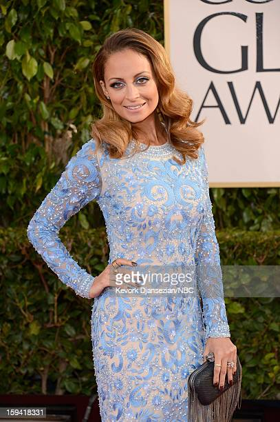 70th ANNUAL GOLDEN GLOBE AWARDS Pictured TV personality Nicole Richie arrives to the 70th Annual Golden Globe Awards held at the Beverly Hilton Hotel...