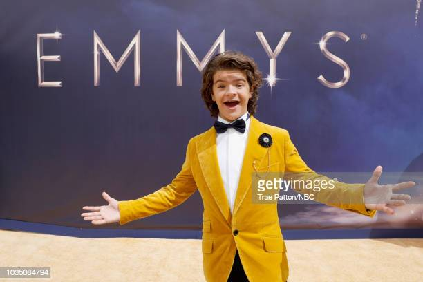 70th ANNUAL PRIMETIME EMMY AWARDS Pictured Actior Gaten Matarazzo arrives to the 70th Annual Primetime Emmy Awards held at the Microsoft Theater on...