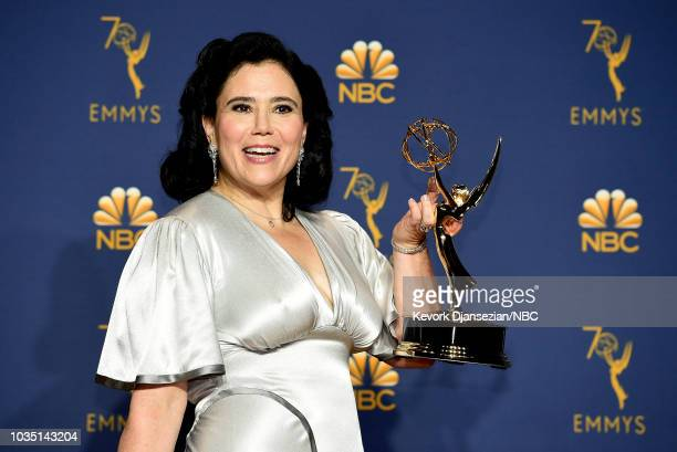 70th ANNUAL PRIMETIME EMMY AWARDS Pictured Actor Alex Borstein poses with the Outstanding Supporting Actress in a Comedy Series award for 'The...
