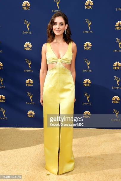 70th ANNUAL PRIMETIME EMMY AWARDS Pictured Actor Alison Brie arrives to the 70th Annual Primetime Emmy Awards held at the Microsoft Theater on...