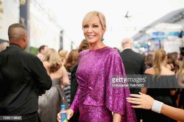 70th ANNUAL PRIMETIME EMMY AWARDS Pictured Actor Allison Janney arrives to the 70th Annual Primetime Emmy Awards held at the Microsoft Theater on...