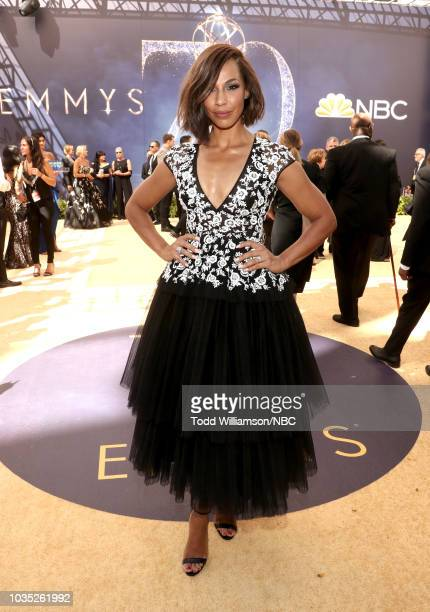70th ANNUAL PRIMETIME EMMY AWARDS Pictured Actor Amanda Brugel arrives to the 70th Annual Primetime Emmy Awards held at the Microsoft Theater on...