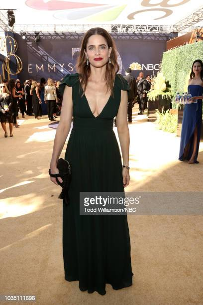 70th ANNUAL PRIMETIME EMMY AWARDS Pictured Actor Amanda Peet arrives to the 70th Annual Primetime Emmy Awards held at the Microsoft Theater on...