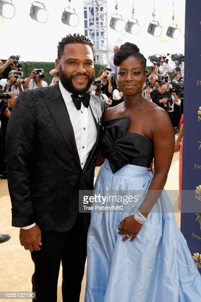 70th ANNUAL PRIMETIME EMMY AWARDS Pictured Actor Anthony Anderson and Alvina Stewart arrives to the 70th Annual Primetime Emmy Awards held at the...