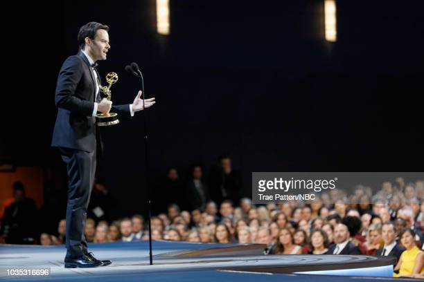 70th ANNUAL PRIMETIME EMMY AWARDS Pictured Actor Bill Hader accepts the award for Outstanding Lead Actor in a Comedy Series 'Barry' onstage during...