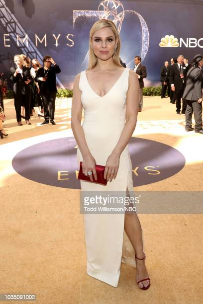 70th ANNUAL PRIMETIME EMMY AWARDS Pictured Actor Cara Buono arrives to the 70th Annual Primetime Emmy Awards held at the Microsoft Theater on...