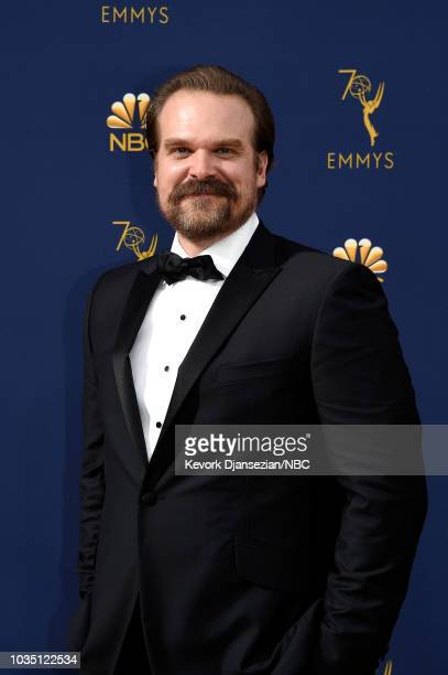 70th ANNUAL PRIMETIME EMMY AWARDS Pictured Actor David Harbour arrives to the 70th Annual Primetime Emmy Awards held at the Microsoft Theater on...