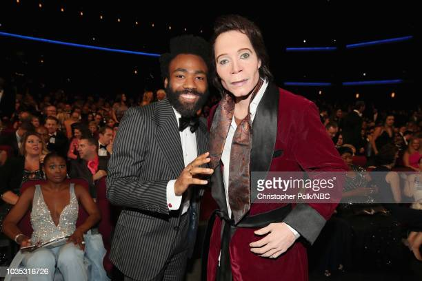 70th ANNUAL PRIMETIME EMMY AWARDS -- Pictured: Actor Donald Glover and Teddy Perkins attend the 70th Annual Primetime Emmy Awards held at the...