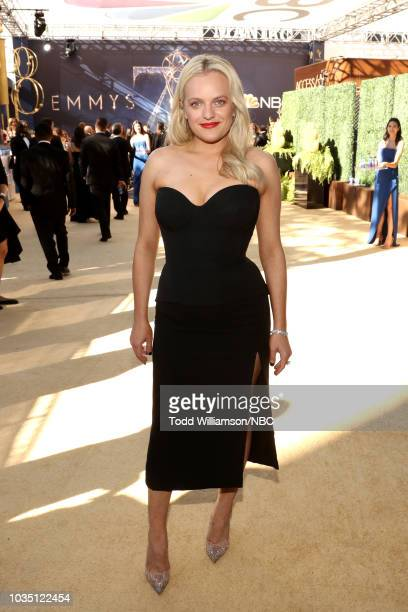 70th ANNUAL PRIMETIME EMMY AWARDS -- Pictured: Actor Elisabeth Moss arrives to the 70th Annual Primetime Emmy Awards held at the Microsoft Theater on...