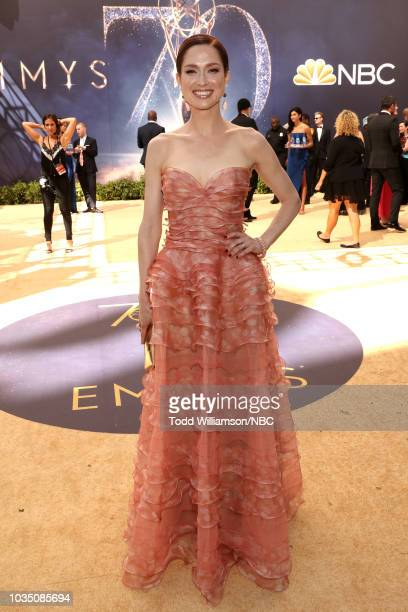 70th ANNUAL PRIMETIME EMMY AWARDS Pictured Actor Ellie Kemper arrives to the 70th Annual Primetime Emmy Awards held at the Microsoft Theater on...