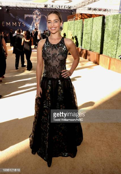 70th ANNUAL PRIMETIME EMMY AWARDS Pictured Actor Emilia Clarke arrives to the 70th Annual Primetime Emmy Awards held at the Microsoft Theater on...