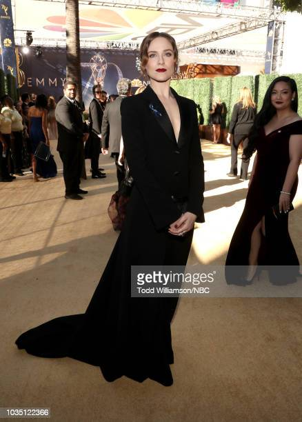 70th ANNUAL PRIMETIME EMMY AWARDS Pictured Actor Evan Rachel Wood arrives to the 70th Annual Primetime Emmy Awards held at the Microsoft Theater on...