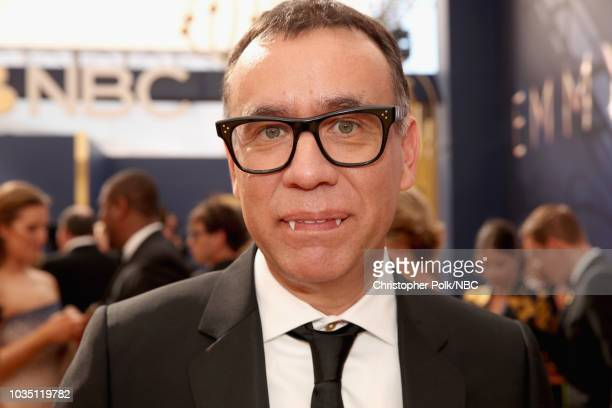 70th ANNUAL PRIMETIME EMMY AWARDS Pictured Actor Fred Armisen arrives to the 70th Annual Primetime Emmy Awards held at the Microsoft Theater on...