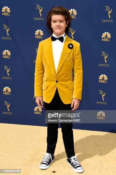 70th ANNUAL PRIMETIME EMMY AWARDS Pictured Actor Gaten Matarazzo arrives to the 70th Annual Primetime Emmy Awards held at the Microsoft Theater on...