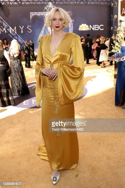 70th ANNUAL PRIMETIME EMMY AWARDS Pictured Actor Gwendoline Christie arrives to the 70th Annual Primetime Emmy Awards held at the Microsoft Theater...