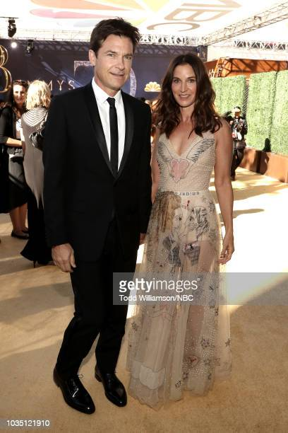 70th ANNUAL PRIMETIME EMMY AWARDS Pictured Actor Jason Bateman and Amanda Anka arrive to the 70th Annual Primetime Emmy Awards held at the Microsoft...