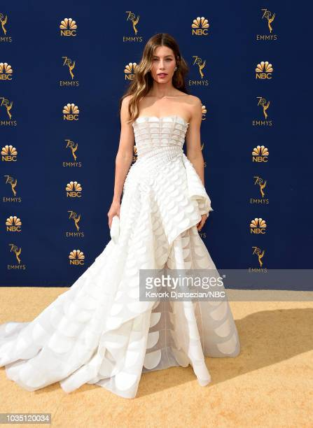 70th ANNUAL PRIMETIME EMMY AWARDS Pictured Actor Jessica Biel arrives to the 70th Annual Primetime Emmy Awards held at the Microsoft Theater on...
