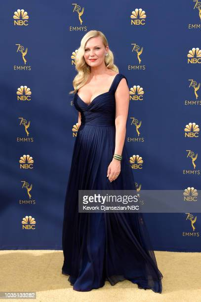 70th ANNUAL PRIMETIME EMMY AWARDS Pictured Actor Kirsten Dunst arrives to the 70th Annual Primetime Emmy Awards held at the Microsoft Theater on...