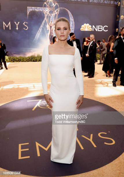 70th ANNUAL PRIMETIME EMMY AWARDS Pictured Actor Kristen Bell arrives to the 70th Annual Primetime Emmy Awards held at the Microsoft Theater on...
