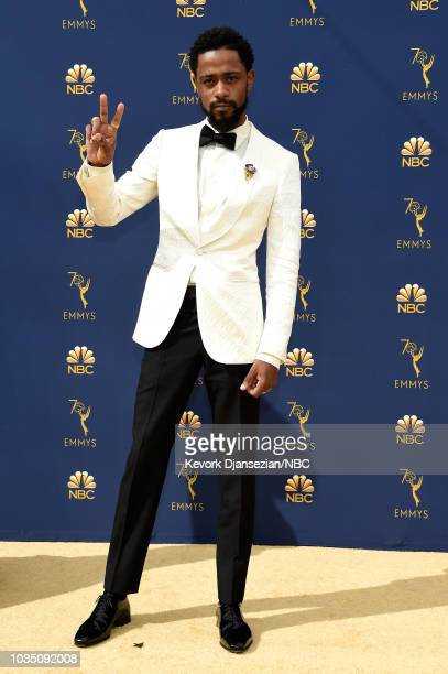 70th ANNUAL PRIMETIME EMMY AWARDS Pictured Actor Lakeith Stanfield arrives to the 70th Annual Primetime Emmy Awards held at the Microsoft Theater on...