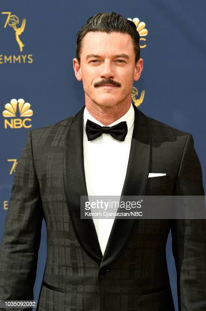 70th ANNUAL PRIMETIME EMMY AWARDS Pictured Actor Luke Evans arrives to the 70th Annual Primetime Emmy Awards held at the Microsoft Theater on...