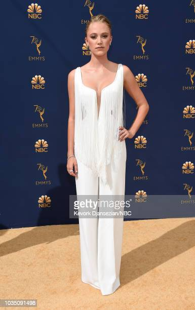 70th ANNUAL PRIMETIME EMMY AWARDS Pictured Actor Maika Monroe arrives to the 70th Annual Primetime Emmy Awards held at the Microsoft Theater on...