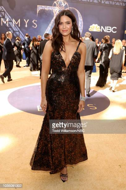 70th ANNUAL PRIMETIME EMMY AWARDS Pictured Actor Mandy Moore arrives to the 70th Annual Primetime Emmy Awards held at the Microsoft Theater on...