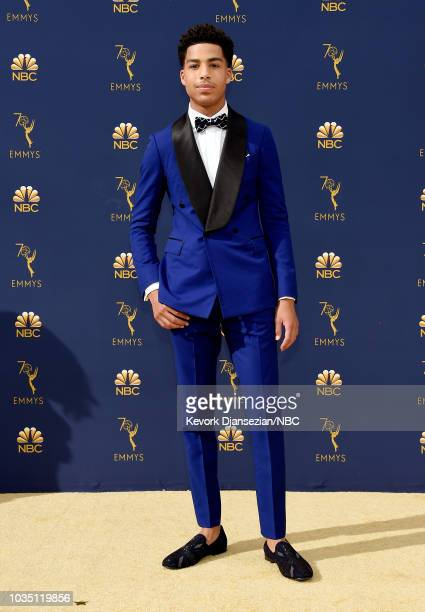 70th ANNUAL PRIMETIME EMMY AWARDS Pictured Actor Marcus Scribner arrives to the 70th Annual Primetime Emmy Awards held at the Microsoft Theater on...