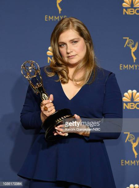 70th ANNUAL PRIMETIME EMMY AWARDS Pictured Actor Merritt Wever poses with the Outstanding Supporting Actress in a Limited Series or Movie for...
