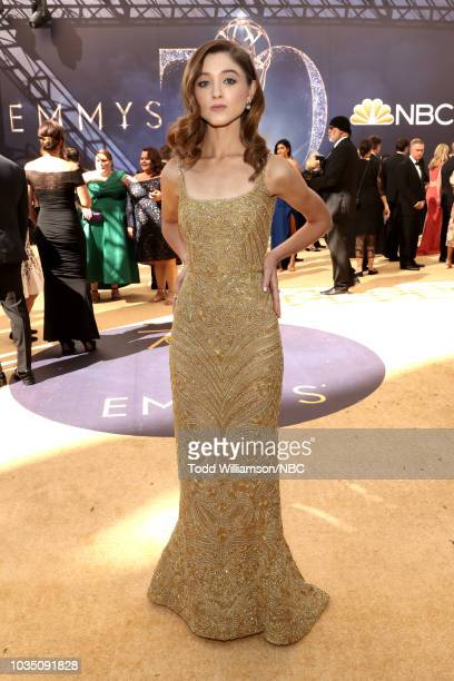 70th ANNUAL PRIMETIME EMMY AWARDS Pictured Actor Natalia Dyer arrives to the 70th Annual Primetime Emmy Awards held at the Microsoft Theater on...
