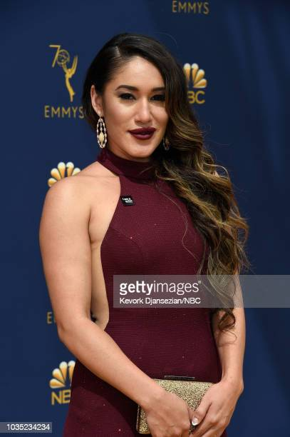 70th ANNUAL PRIMETIME EMMY AWARDS Pictured Actor Q'orianka Kilcher arrives to the 70th Annual Primetime Emmy Awards held at the Microsoft Theater on...
