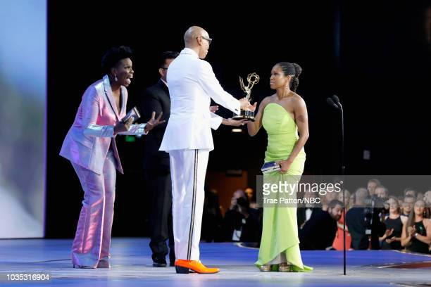 70th ANNUAL PRIMETIME EMMY AWARDS Pictured Actor Regina King accepts Outstanding Lead Actress in a Limited Series or Movie for 'Seven Seconds' from...