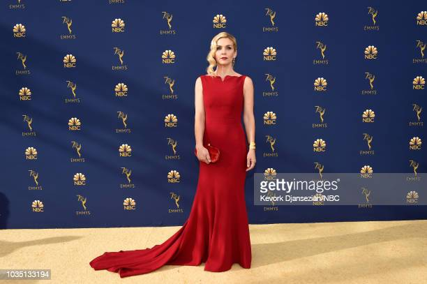70th ANNUAL PRIMETIME EMMY AWARDS Pictured Actor Rhea Seehorn arrives to the 70th Annual Primetime Emmy Awards held at the Microsoft Theater on...