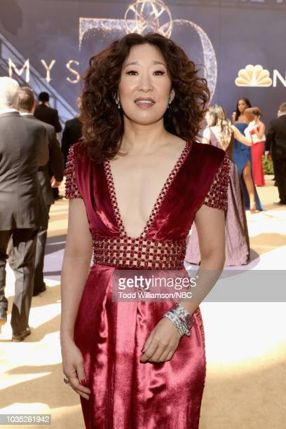 70th ANNUAL PRIMETIME EMMY AWARDS Pictured Actor Sandra Oh arrives to the 70th Annual Primetime Emmy Awards held at the Microsoft Theater on...