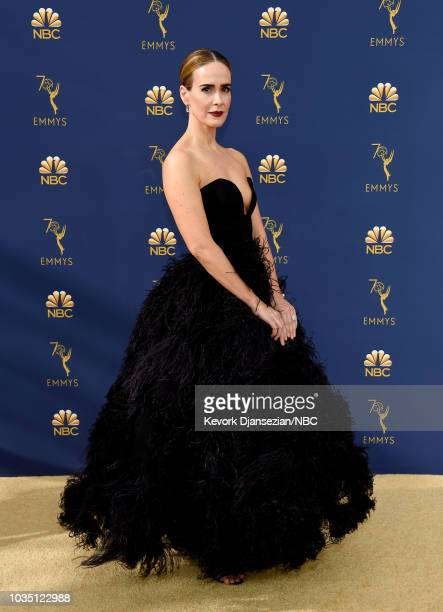 70th ANNUAL PRIMETIME EMMY AWARDS Pictured Actor Sarah Paulson arrives to the 70th Annual Primetime Emmy Awards held at the Microsoft Theater on...