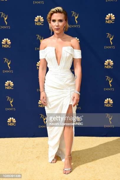 70th ANNUAL PRIMETIME EMMY AWARDS Pictured Actor Scarlett Johansson arrives to the 70th Annual Primetime Emmy Awards held at the Microsoft Theater on...