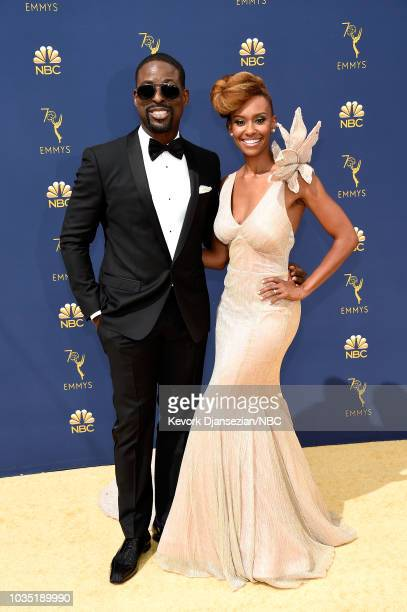 70th ANNUAL PRIMETIME EMMY AWARDS Pictured Actor Sterling K Brown and Ryan Michelle Bathe arrive to the 70th Annual Primetime Emmy Awards held at the...